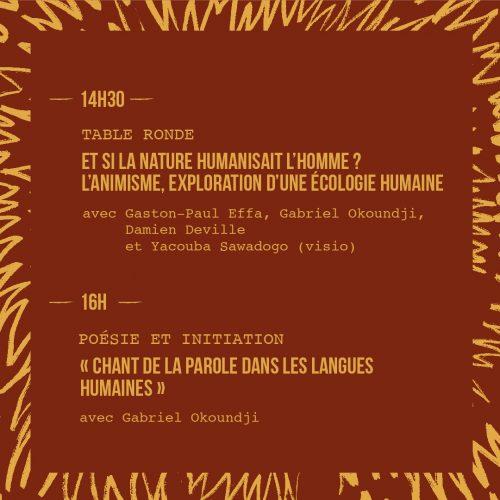 Programme conférence du samedi 4