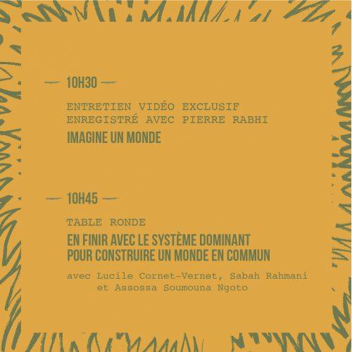 Programme conférence dimanche 2